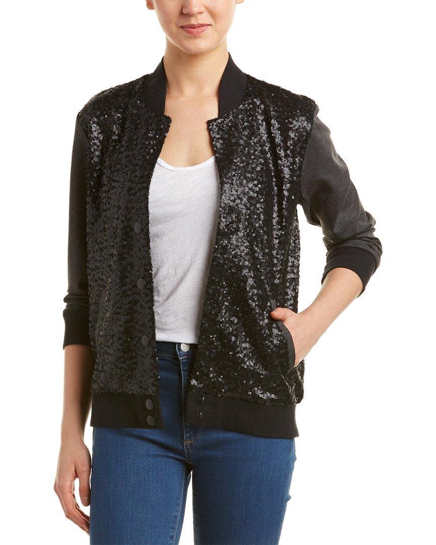 Splendid Women's Sequin Jacket, Black, XS