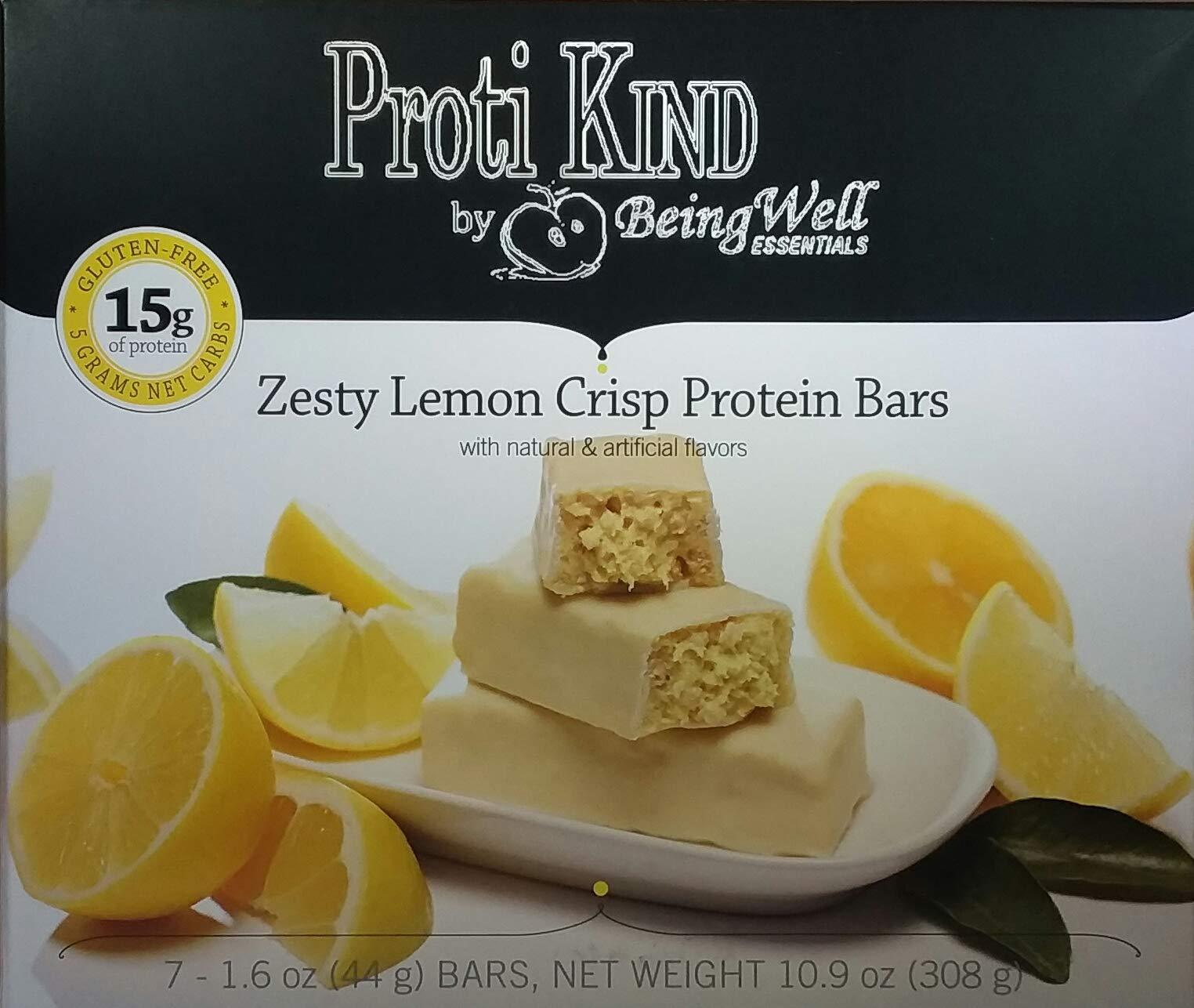 Proti Kind Very Low Carb Zesty Lemon Bars - Full CASE - 84 Bars