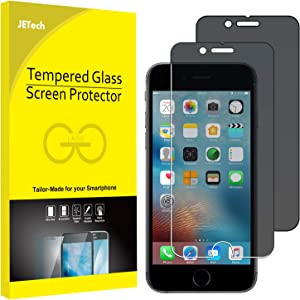 JETech Privacy Screen Protector for iPhone 6 and iPhone 6s, 4.7-Inch, Anti-Spy Tempered Glass Film, 2-Pack