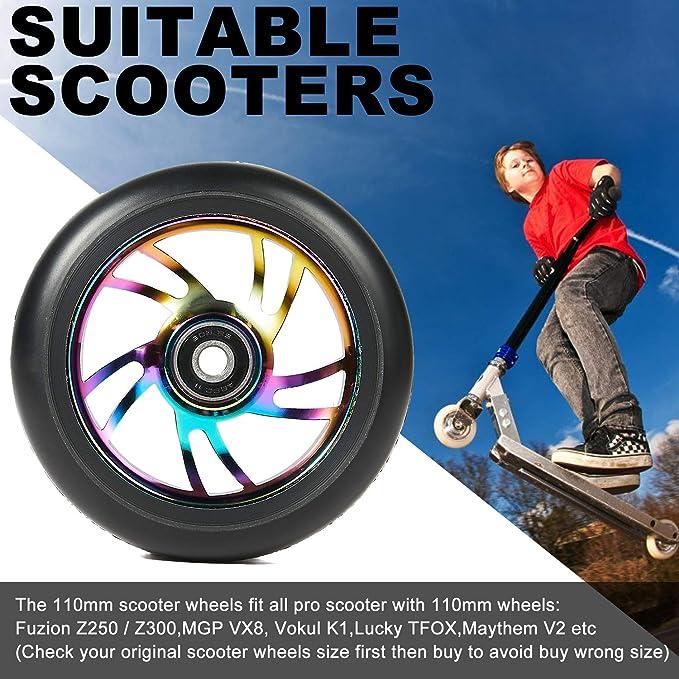 Anaquda Blade Stunt-Scooter Rolle 110mm Roller rad Wheel  Blauchrome
