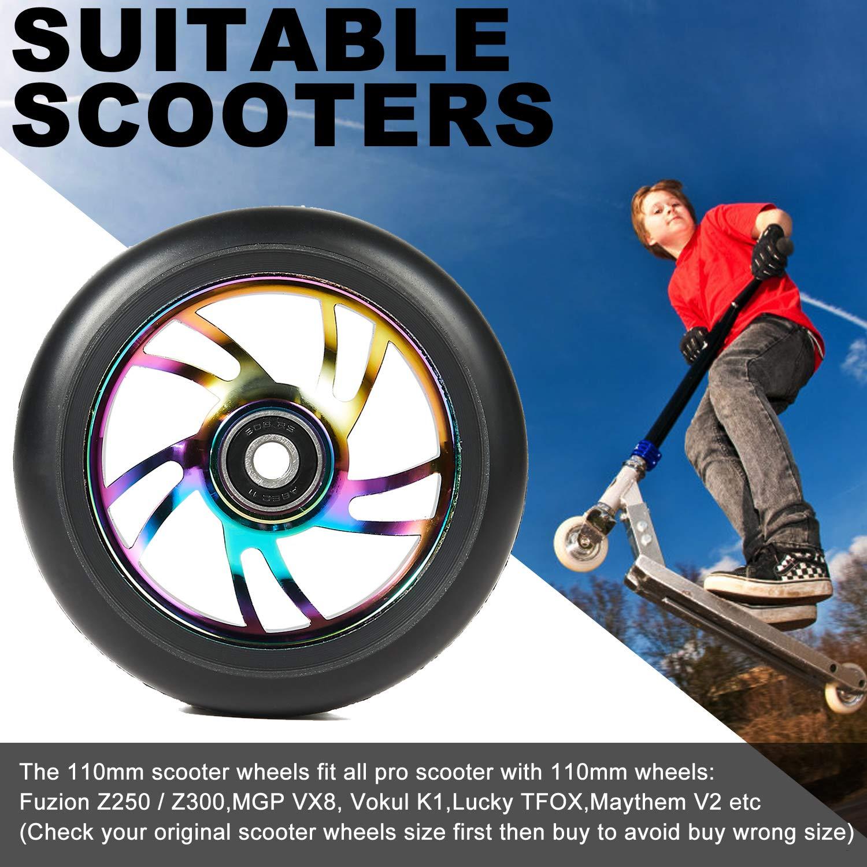 Amazon.com: Kutrick Pro Stunt Juego completo de 2 ruedas de ...
