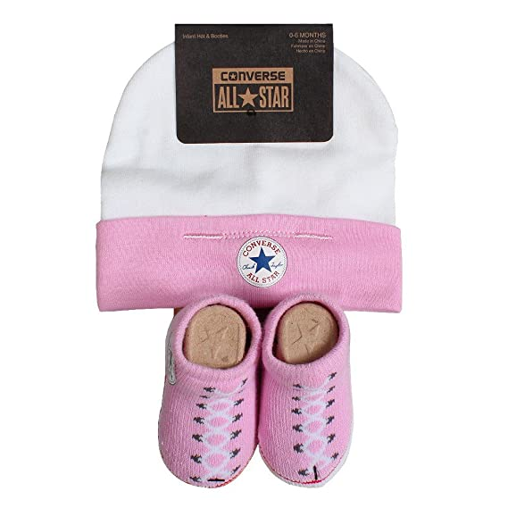 25b94a5c8e4 Converse Baby Girls 0-24m Hat and Bootie Clothing Set