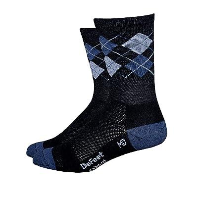 .com : DEFEET Men's Argyle Gray Hi-Top Wool Eater Sock : Cycling Socks : Clothing