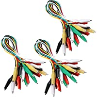 Elegoo 30 PCS Test Leads Set with Alligator Clips Double-end 50cm Jumper Wire for Arduino Project