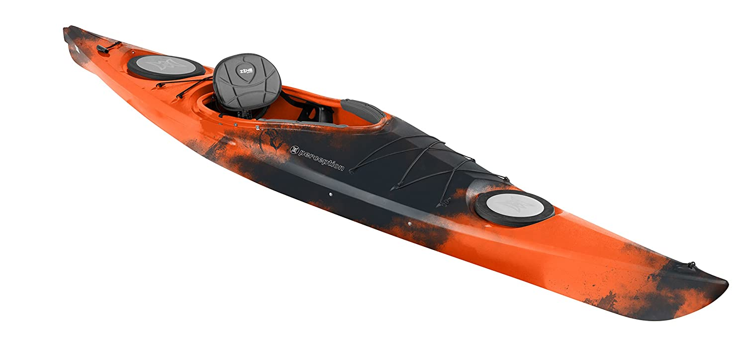 Amazon com : Perception Kayak Conduit 13 Xp Org/BLK/Org, Orange