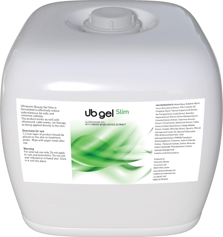 UB Schlankheits und Anti-Cellulite Ultraschallgel mit grüner Kaffee Extrakt und Yerba Mate 500ml Ultrasonic Beauty