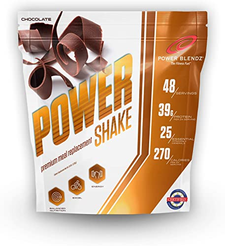Meal Replacement Smoothie Powder, Chocolate Power Shake, 3.8 Lbs by Power Blendz