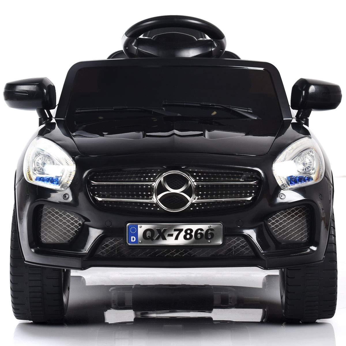 RC Parental /& Manual Modes Children Electric Vehicle w//Lights MP3 / Costzon Kids Ride On Car Black