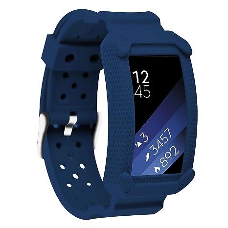 Greatfine Samsung Gear Fit2 Correa, muñequera Deportiva Watch Band de Reloj Pulsera de Reemplazo Correa
