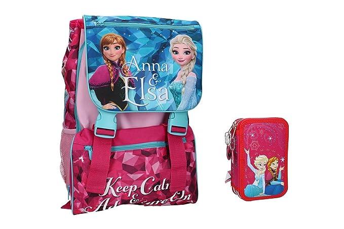 Pam Shop Mochila niño FROZEN bolsa escolar extensible rosa + estuche VZ701: Amazon.es: Ropa y accesorios