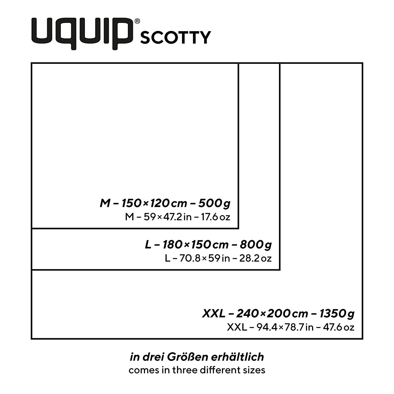 grandezza 150x120 cm Uquip Scotty M Coperta in pile da picnic a quadretti per 2 persone