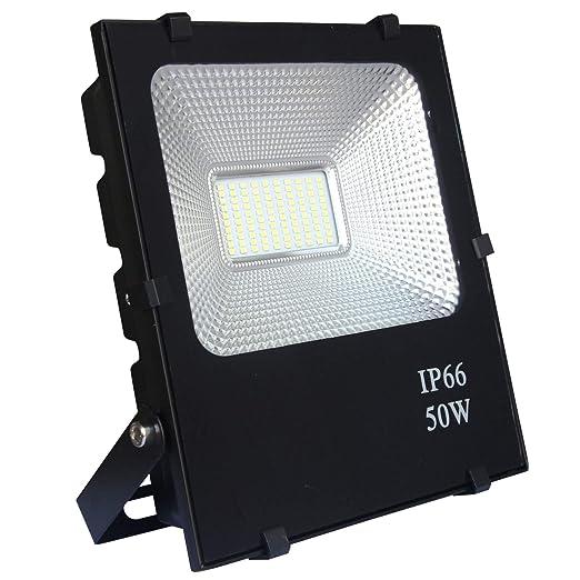 AUFUN Focos de exterior 50W LED reflector faro Blanco cálido ...