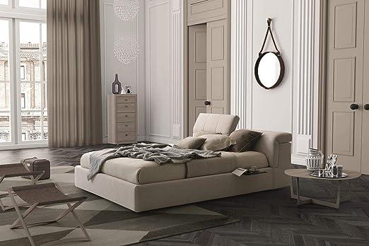 Amazon Com Soflex Tower Light Beige Fabric Plush Headboard Platform Storage King Size Bed Kitchen Dining