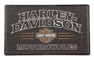 HARLEY-DAVIDSON American Legend PVC Entry Floor Mat, 18 x 30 - Black 41LM4900