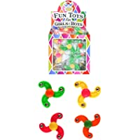HENBRANDT 12 x Mini Finger Spiners Kids Party Bag Fillers Pinata Toys Assorted Colours