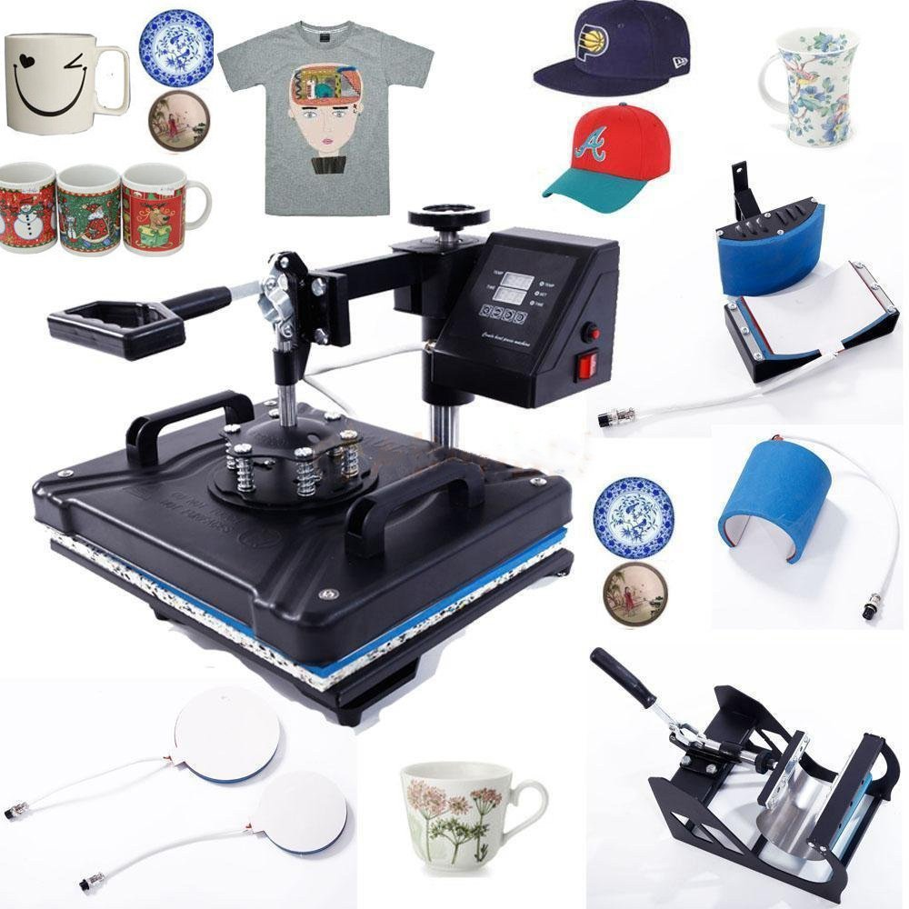 Z ZTDM Digital Heat Press 5 in 1 Transfer Sublimation Multifunction Machine,Rhinestone/T-Shirt/Hat/Mug/Plate/Cap Heat Press Mouse Pads Jigsaw Puzzles DIY Press,12''x15''w/ Dual LCD Timer 1250W by Z ZTDM