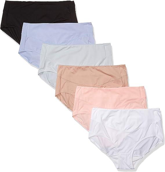Hanes - Bragas de calzoncillos para mujer (paquete de 6) - Multi - 35: Amazon.es: Ropa y accesorios