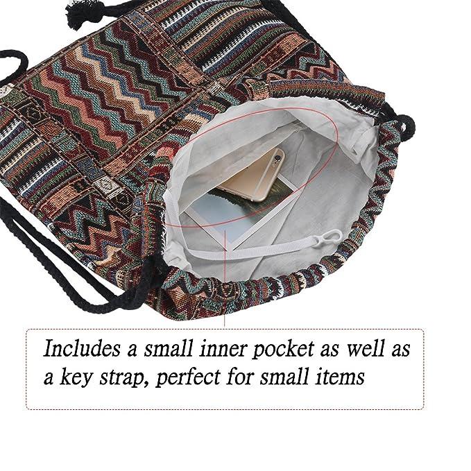 Amazon.com: Farway - Mochila portátil con cordón, Marrón ...