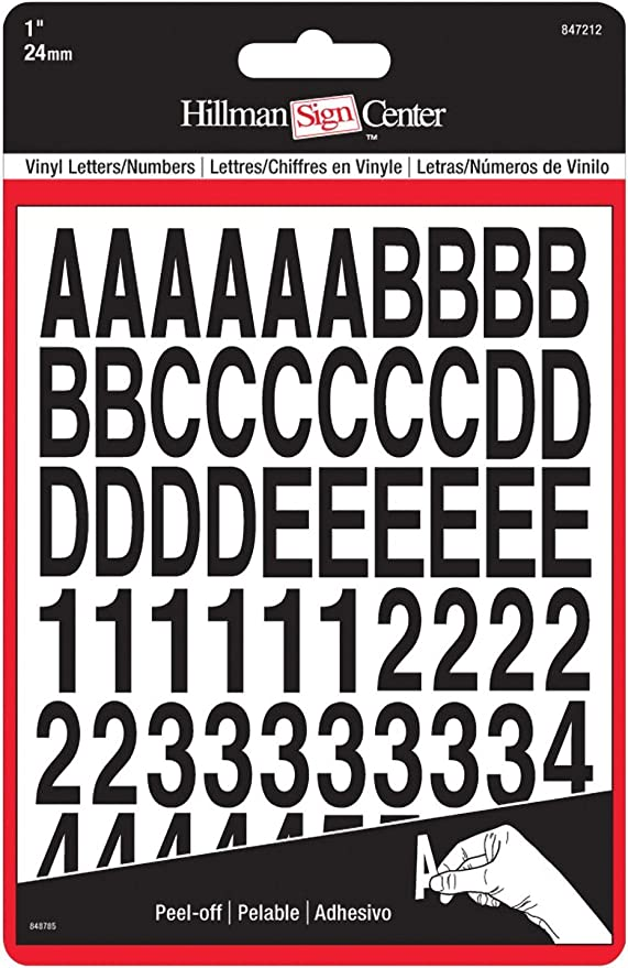 Improved The Hillman Group 847215 1-Inch Die-Cut Letters//Numbers Kit White #1 Inch