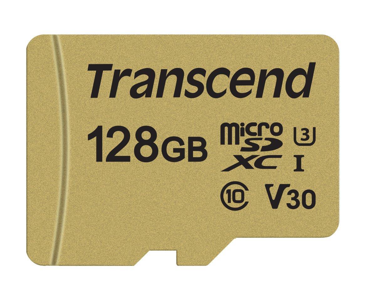 Transcend 128GB microSDXC 500S Memory Card TS128GUSD500S