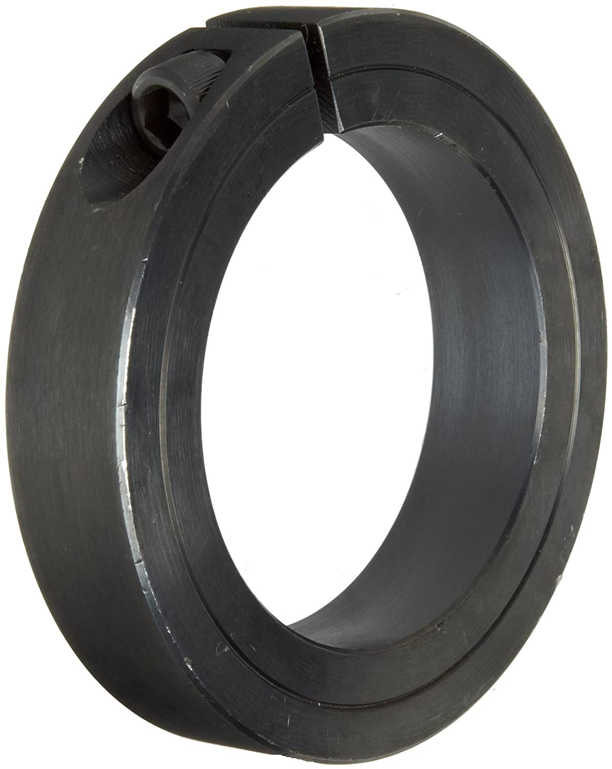 2-5//16 Bore Size Black Oxide Plating With 5//16-24 x 1 Set Screw Climax Metal 1C-231 Steel One-Piece Clamping Collar 3-1//2 OD