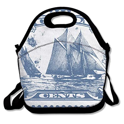Amazoncom Clipart Bluenose Canadian Stamp Insulated Lunch Bag