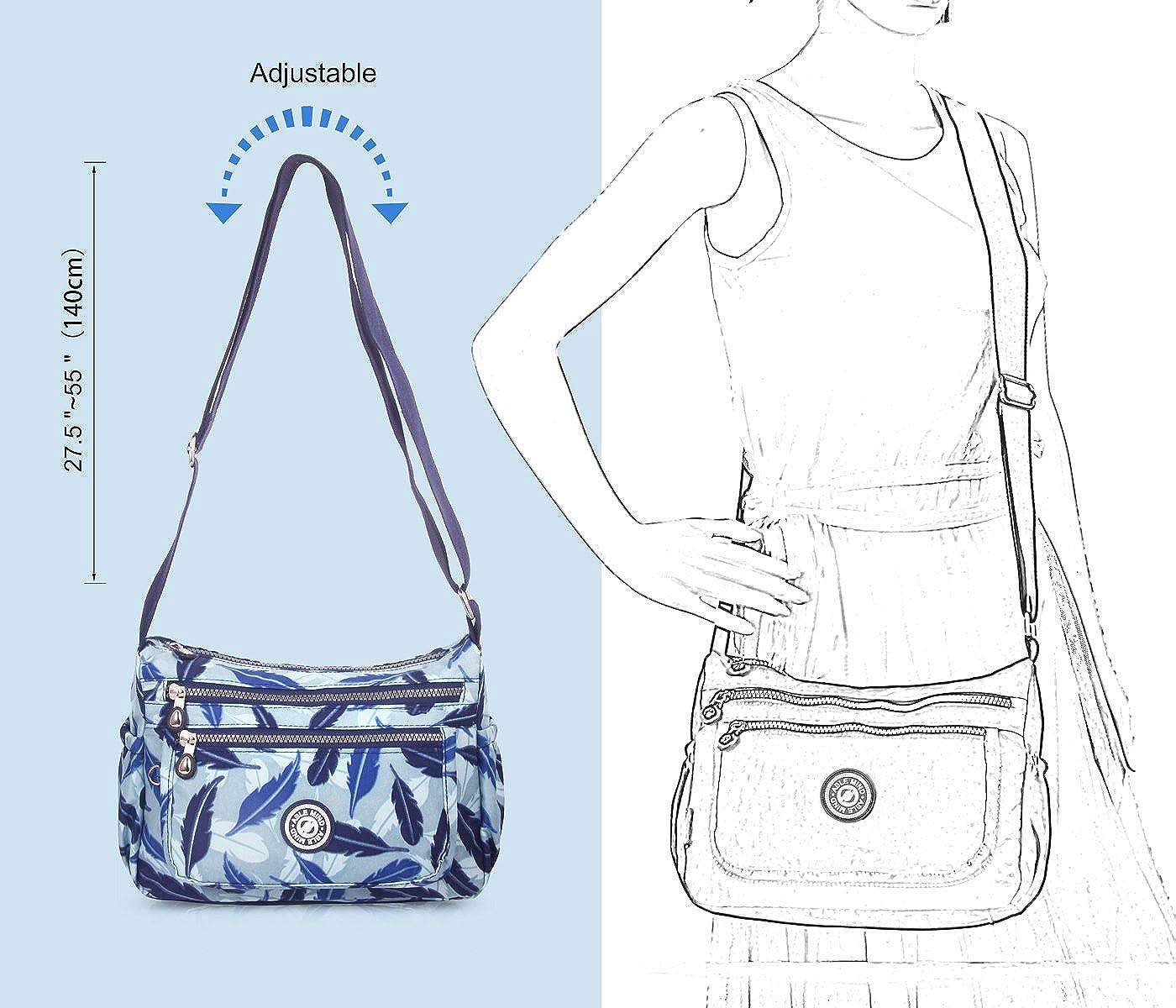 voyage sac /à bandouli/ère pour shopping AIBILIEI Sac /à bandouli/ère pour femme travail