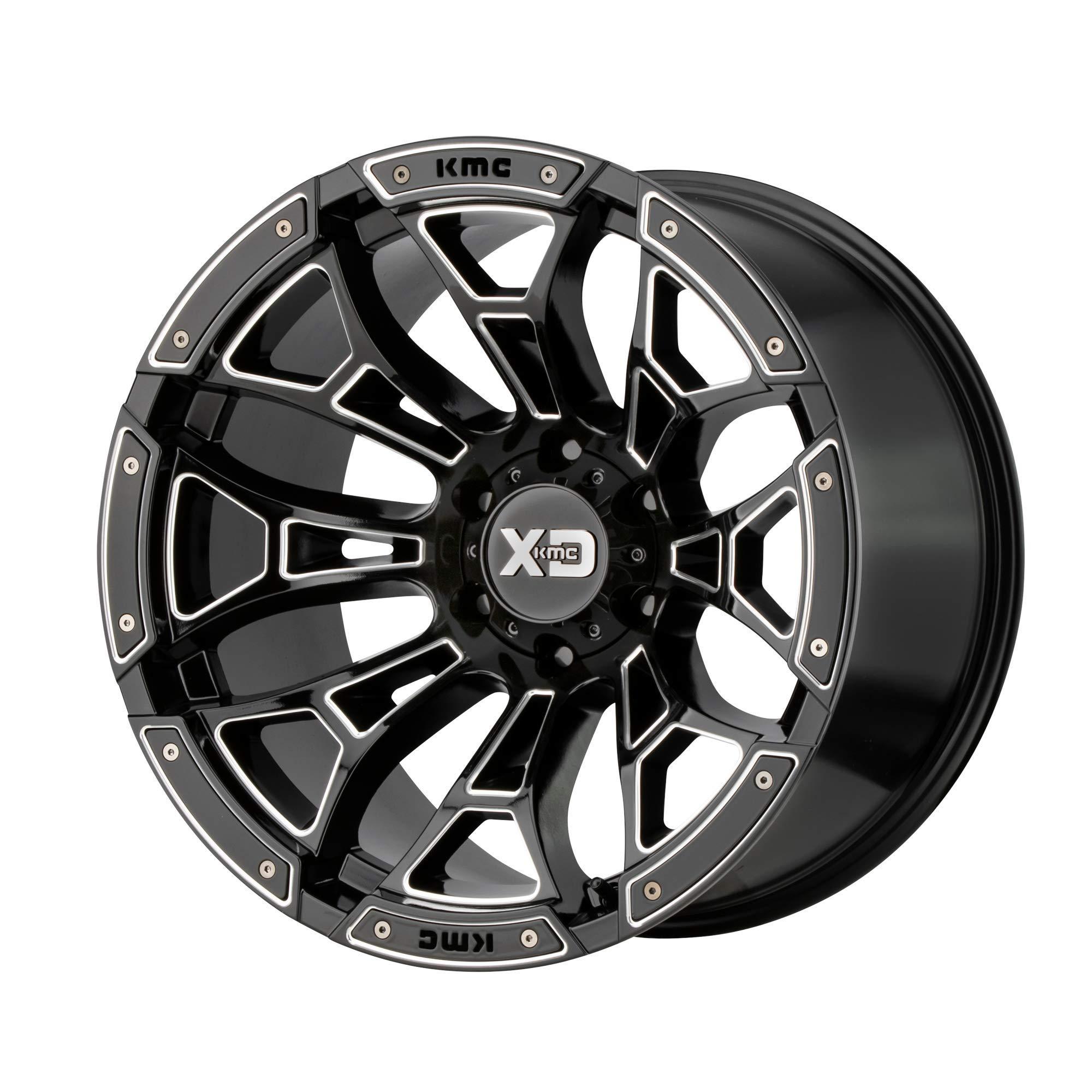 XD Series by KMC Wheels XD841 18X9 6X5.5 G-BLK Mill 00MM AUTO Rim