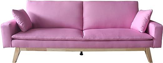 Mueblix Sofa Cama Sonora (Rosa): Amazon.es: Hogar