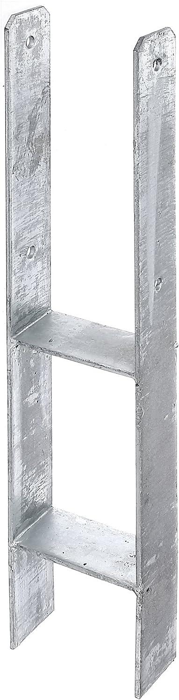 121 x 600 x 6 mm Schraubenset f/ür Carport Zaun Sichtschutz uvm. Heunert H-Pfostentr/äger H-Anker feuerverzinkt mit CE Zeichen inkl