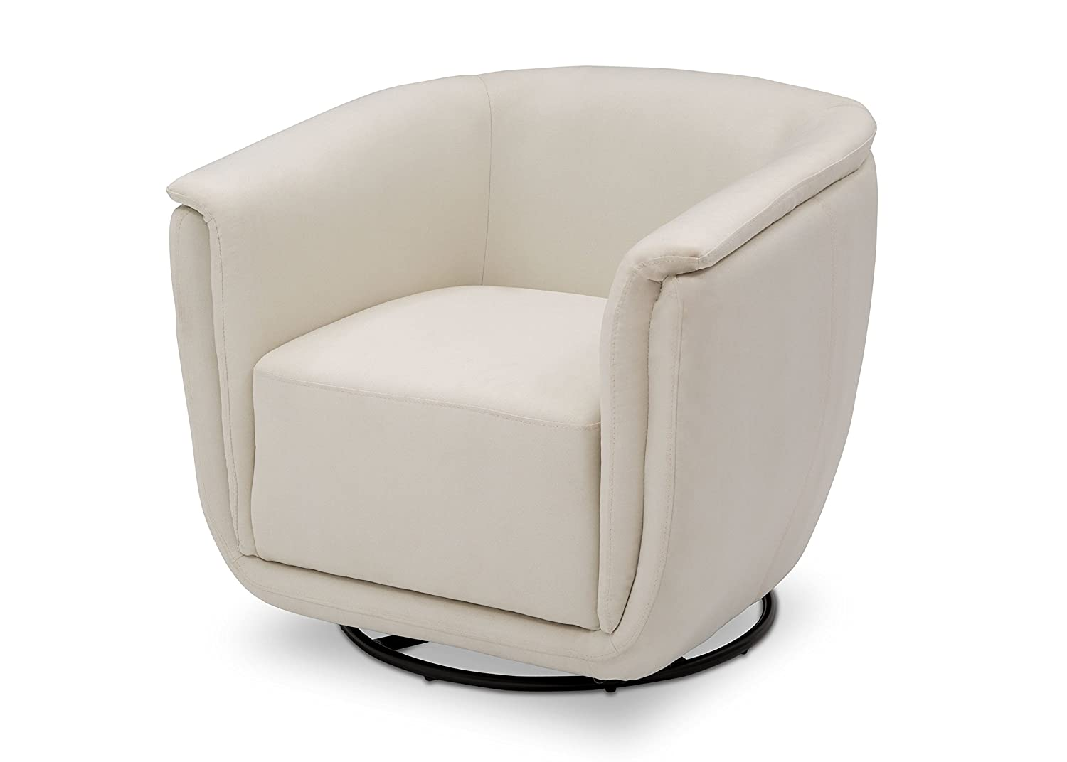 Delta Children Skylar Nursery Glider Swivel Rocker Tub Chair, Cream
