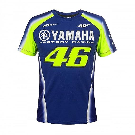 Vr46 Valentino Rossi 46 Yamaha Rennsport T Shirt Herren Blau Gelb