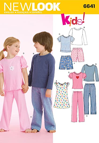 Image Unavailable. Image not available for. Color  New Look Sewing Pattern  6641 Child Sleepwear ... 98044390e