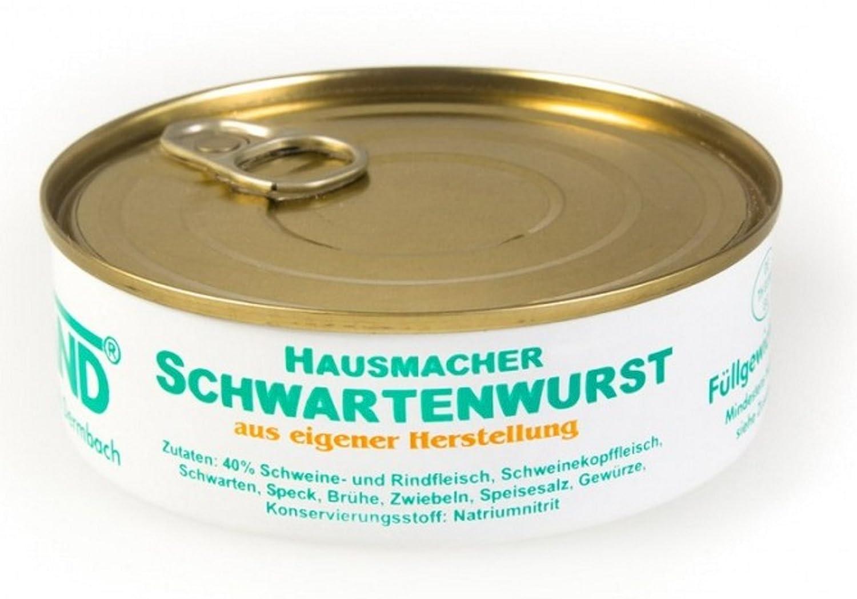 Rhönland Hausmacher Schwartenwurst, Eigene Herstellung, 200 g ...