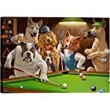 Eliteart-Dogs Playing Pool Billiard Artisan by Cassius Marcellus Coolidge Oil Painting Reproduction Giclee Wall Art Canvas Prints