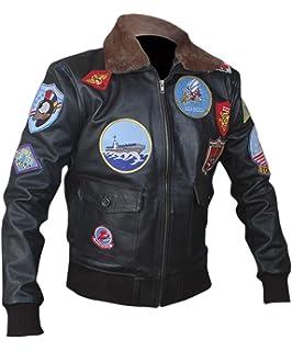 F&H Mens Top Gun Pete Maverick Tom Cruise Bomber Jacket
