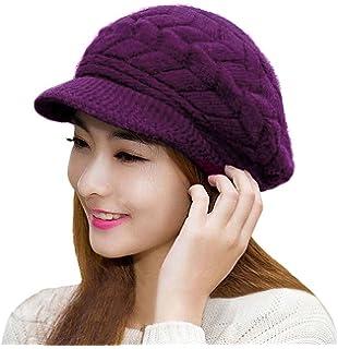 2356d31f6f66f6 IL Caldo Womens Warm Winter Knit Thick Beanie Hats Plus Lining Cap ...