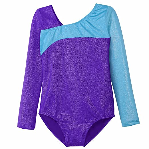 b25d8ad52 Amazon.com  Leotard for Girls Children Gymnastics Long Sleeve Dance ...