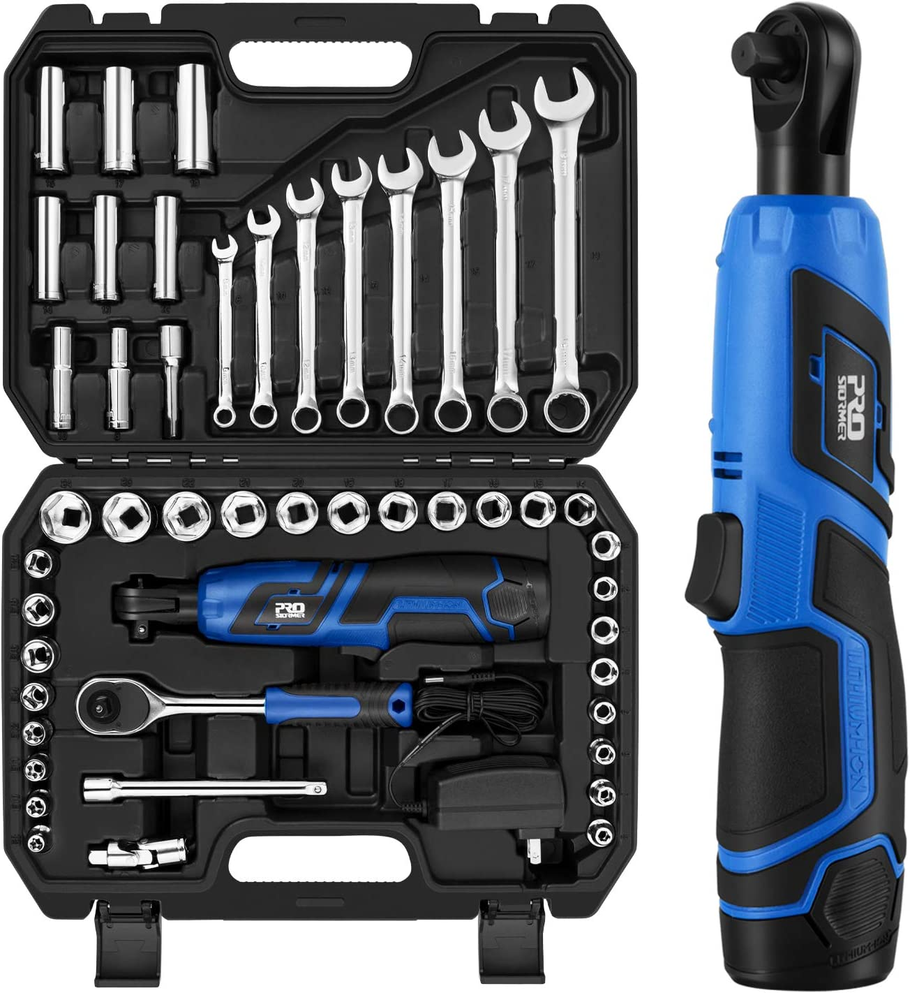 90° electric rechargeable ratchet wrench 12v battery truss tools kit