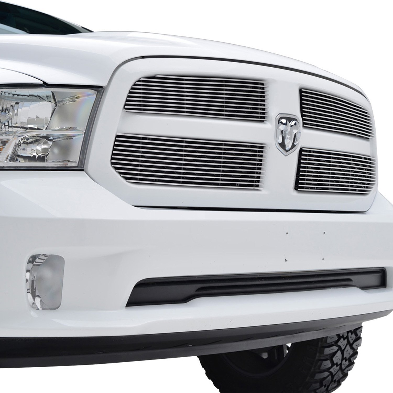 Paramount Automotive Chrome Paramount Restyling 32-0209 13-16 Dodge Ram 1500 Horizontal Billet Overlay Grille Chrome-4pc