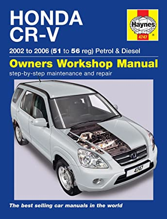 haynes manual m4747 amazon co uk car motorbike rh amazon co uk 2002 Honda CR -V Review 03 Honda CR -V Radio