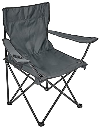 Campingstuhl extra breit Farbe: blau extra bequem Angelstuhl Campingstuhl extra stabil Spetebo Regiestuhl Deluxe bis 150 Kg belastbar