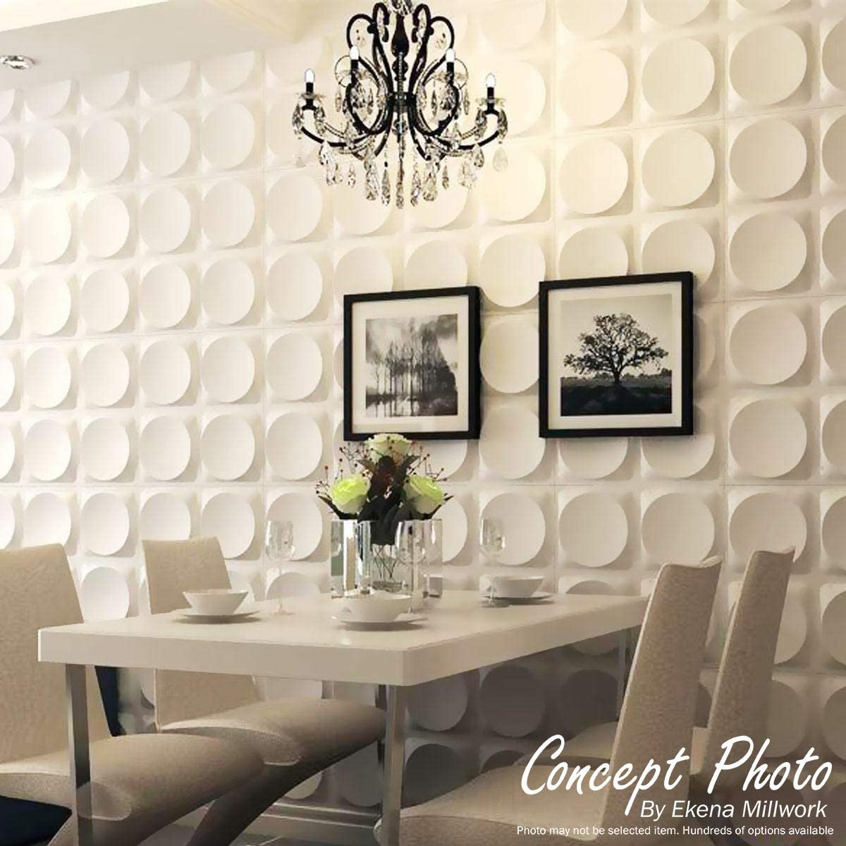 19 5//8W x 19 5//8H Ekena Millwork WP20X20SOWH-CASE-10 Shoreline EnduraWall Decorative 3D Wall Panel White 10 Each