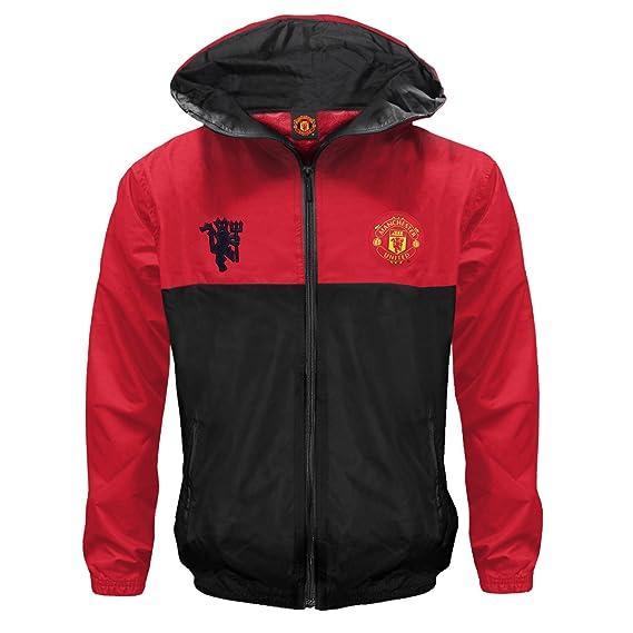 Manchester United FC - Chaqueta cortavientos oficial - Para niño - Impermeable - Estilo retro - 6-7 años: Amazon.es: Ropa y accesorios