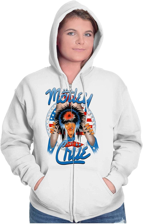 Brisco Brands Motley Crue Girls Girls Girls 87 Tour Logo Zip Hoodie
