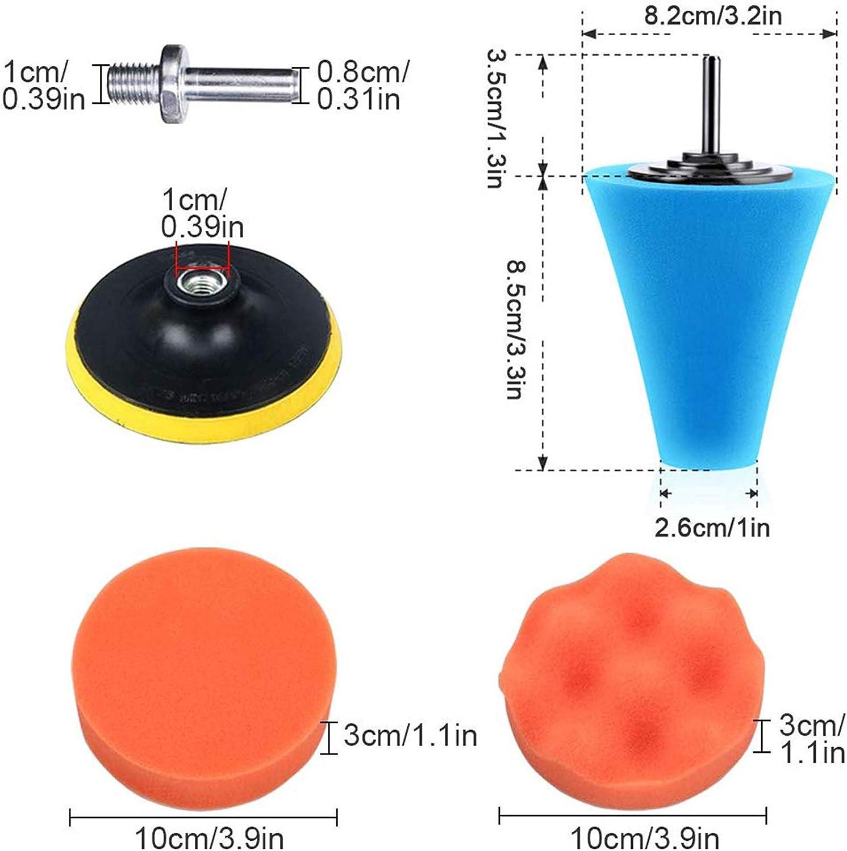 14Pcs Drill Polishing Wheel Foam Ball Buffing Pads Sponge Ball for Automotive Car Wheels Hub Care Ceramic and Glass Metal Car Buffers and Polishers Kit for Drill Plastic