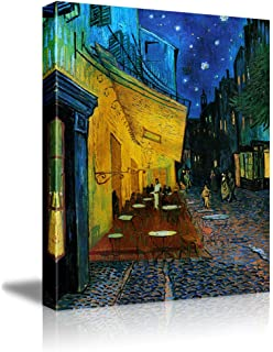 Wall26   Cafe Terrace At Night By Vincent Van Gogh   Oil Painting  Reproduction On Canvas