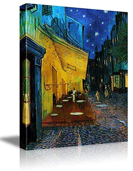 Amazon.com: Wall26 - Cafe Terrace at Night by Vincent Van Gogh - Oil ...