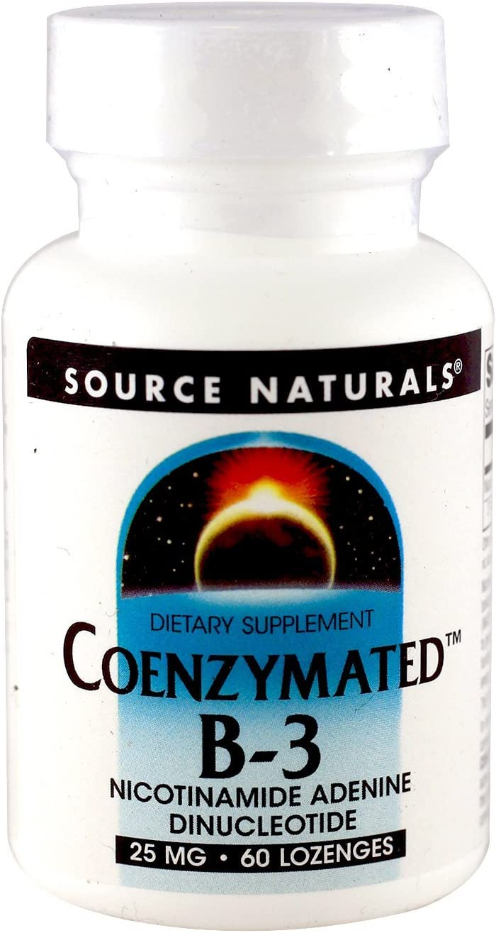 Source Naturals Vitamin B-3 NAD Subl Coenzymated 25mg, 60 Lozenges Pack of 2