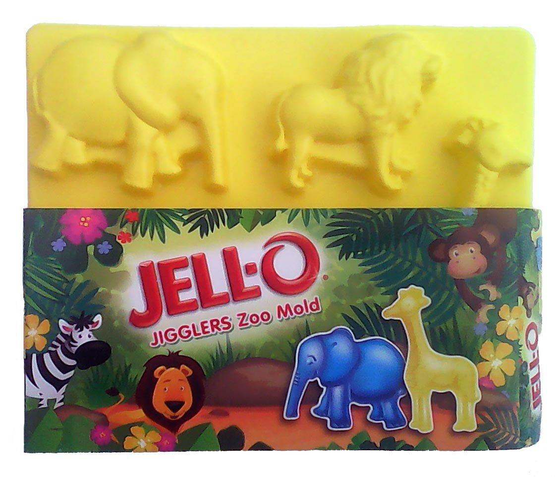 Jell-O Jigglers Zoo Animals Mold - Lion - Elephant - Giraffe - Monkey - Zebra